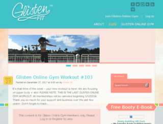 glistenfit.com screenshot