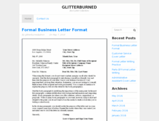 glitterburned.com screenshot