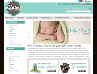 glittergiftbaskets.ca screenshot