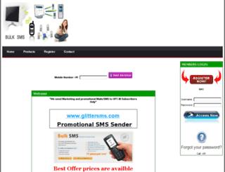 glittersms.com screenshot
