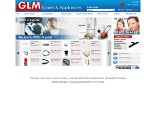 glmspares.co.uk screenshot