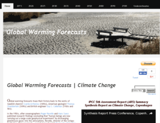 global-warming-forecasts.com screenshot