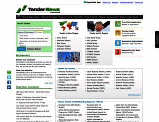 global.tendernews.com screenshot