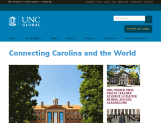 global.unc.edu screenshot