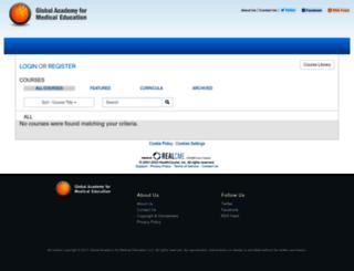 globalacademycme.realcme.com screenshot