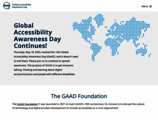 globalaccessibilityawarenessday.org screenshot