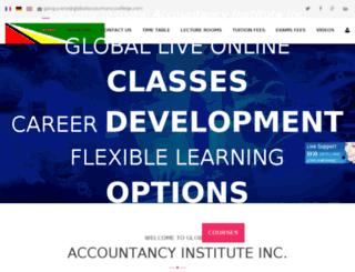 globalaccountancycollegeguyana.globalaccountancycollege.com screenshot