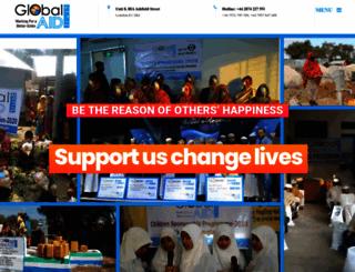 globalaid.org.uk screenshot