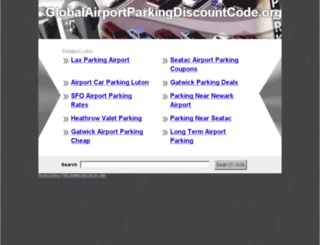 globalairportparkingdiscountcode.org screenshot