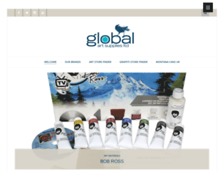 globalartsupplies.co.uk screenshot
