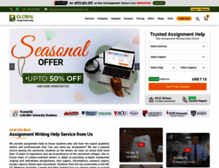 globalassignmenthelp.com screenshot
