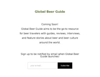 globalbeerguide.com screenshot