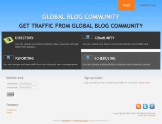 globalblogcommunity.esy.es screenshot