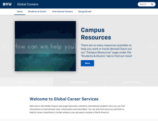 globalcareers.byu.edu screenshot