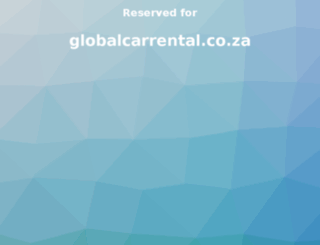 globalcarrental.co.za screenshot