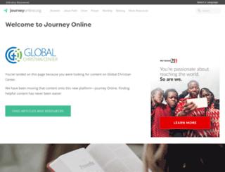 globalchristiancenter.com screenshot