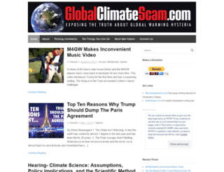 globalclimatescam.com screenshot