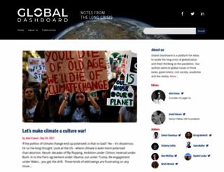 globaldashboard.org screenshot