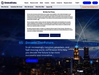 globaldata.com screenshot