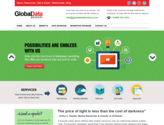 globaldatabrokers.com screenshot