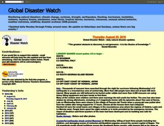globaldisasterwatch.blogspot.com screenshot