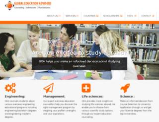 globaleducationadvisors.co.in screenshot