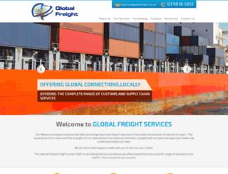 globalfreightservices.dreamdomainz.com screenshot
