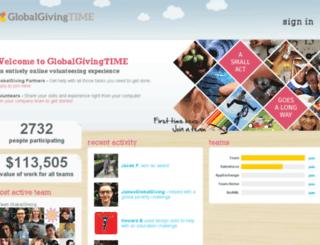 globalgivingtime.com screenshot