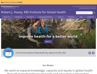 globalhealth.northwestern.edu screenshot
