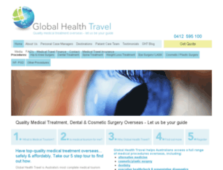 globalhealthtravel.com.au screenshot