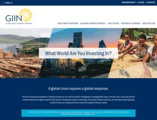 globalimpactinvestingnetwork.org screenshot