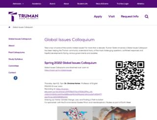 globalissues.truman.edu screenshot