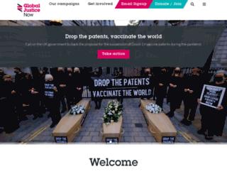 globaljustice.org.uk screenshot
