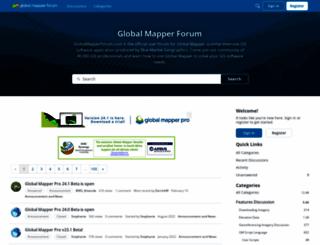 globalmapperforum.com screenshot