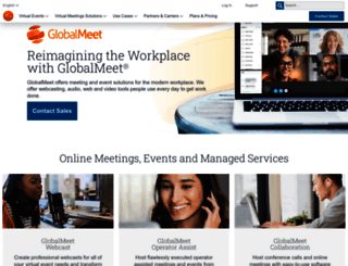 globalmeet.com screenshot
