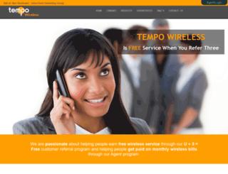 globalnetwork.tempowireless.com screenshot
