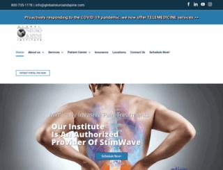 globalneuroandspine.com screenshot