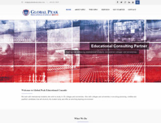 globalpeakeducation.com screenshot