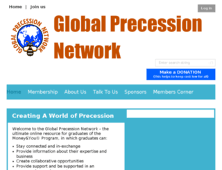 globalprecessionnetwork.com screenshot