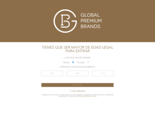 globalpremiumbrands.es screenshot