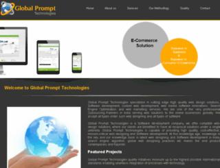 globalpromptinfotech.com screenshot