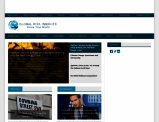 globalriskinsights.com screenshot