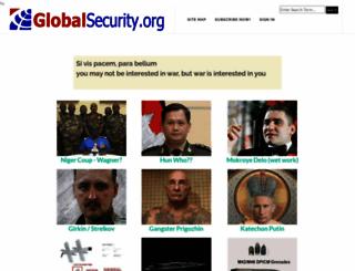 globalsecurity.org screenshot