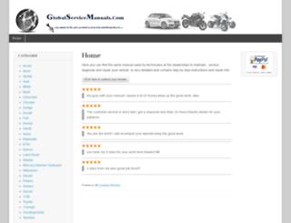 globalservicemanuals.com screenshot