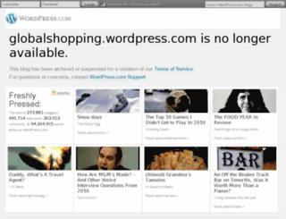 globalshopping.wordpress.com screenshot