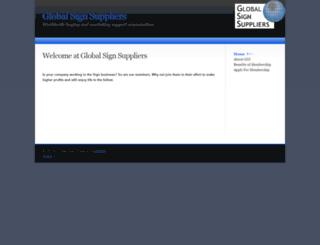 globalsignsuppliers.com screenshot