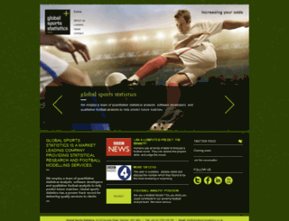 globalsportsstatistics.co.uk screenshot