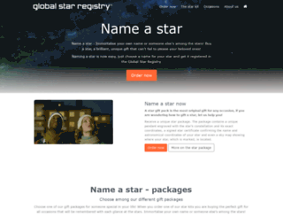 globalstarregistry.com screenshot
