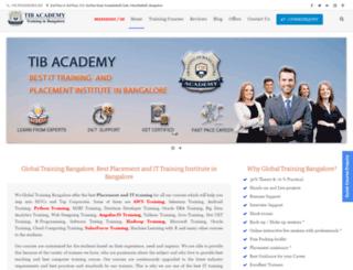 globaltrainingbangalore.com screenshot