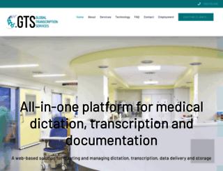 globaltranscriptionservices.com screenshot